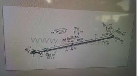 Планка заден ресор Mercedes SPRINTER (2006-) Мерцедес Спринтър 60 лева продава Ем Комплект Дружба 0884333265