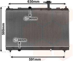 Радиатор воден SUZUKI SX4 S-CROSS, VITARA 1.6 08.13- цена 287 лева продава Ем Комплект Дружба 0884333265  1770061M10