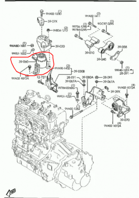 Тампони двигател преден десен MAZDA 6 1.8 2.0 (2002-) Продава Ем Комплект Дружба ПАРАКЛИСА, бул. Цветан Лазаров 85, 0884333261